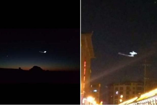 Morphing UFO causes panic in China