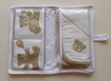 Kit Bebê Passeio Ursinho Bege - Betsy - Decoração e Enxoval de Bebê
