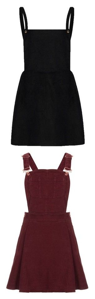 """""""Kenzie's overall dresses"""" by booboored ❤ liked on Polyvore featuring dresses, overalls, short dresses, square neck dress, pinafore dress, pinny dress, square neckline dress, skirts, vestidos and burgundy"""