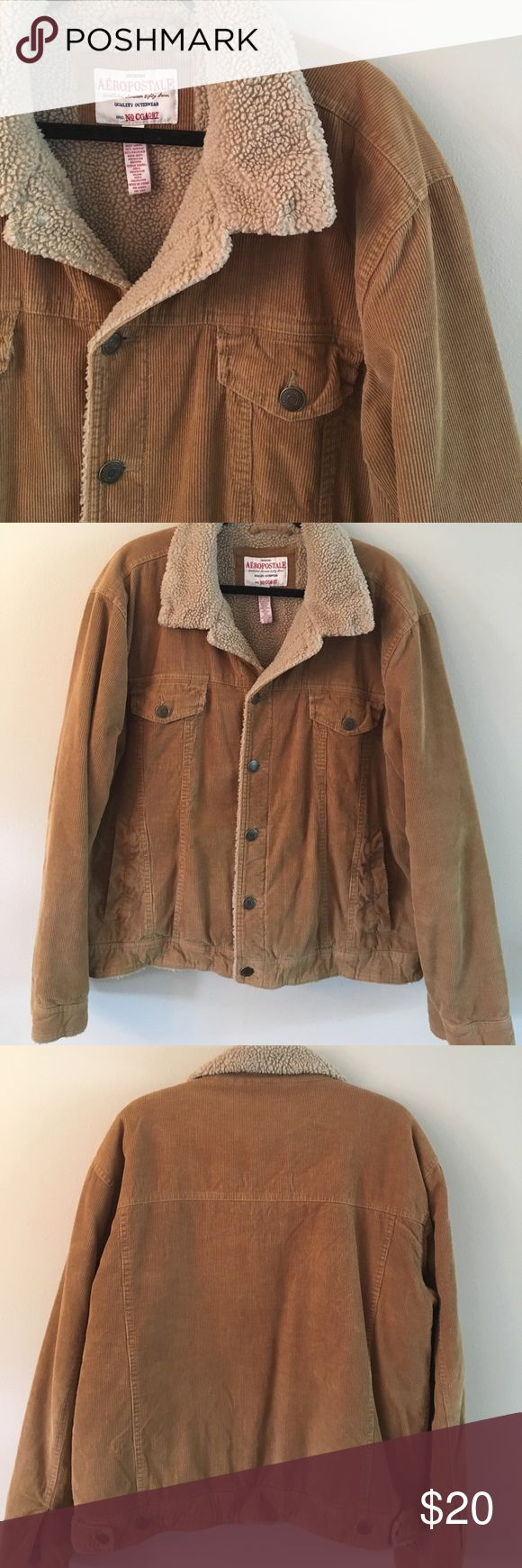 Aeropostale Men's Classic Corduroy jacket Aeropostale Men's Classic Corduroy jacket in a camel color. Great used condition,  minimal wear on pocket shown in photo.  Very warm, lined jacket! Aeropostale Jackets & Coats