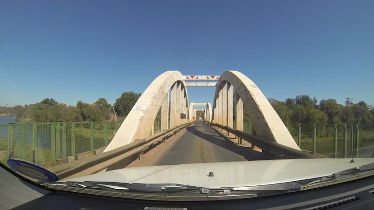 Crossing the Limpopo river between South Africa and Botswana