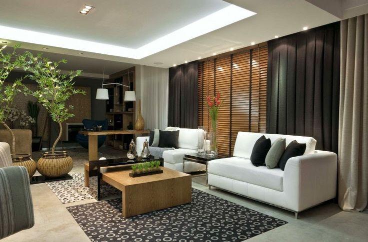 persiana de madeira com cortina blackout