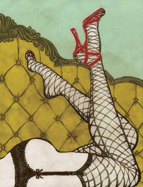 Yuko Shimizu illustration.  TORO Magazine sex column (TORO Magazine Canada), 2006-2007