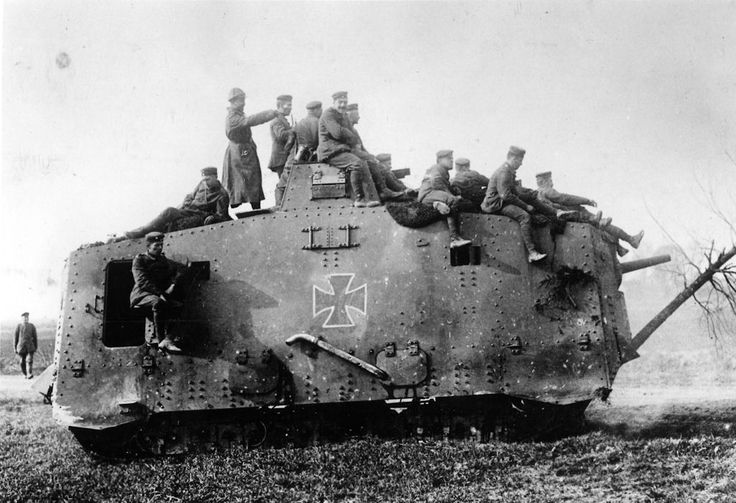 The A7V was the first German tank design to see service when it was introduced in March 1918. Only 20 were built, and only one original has survived.