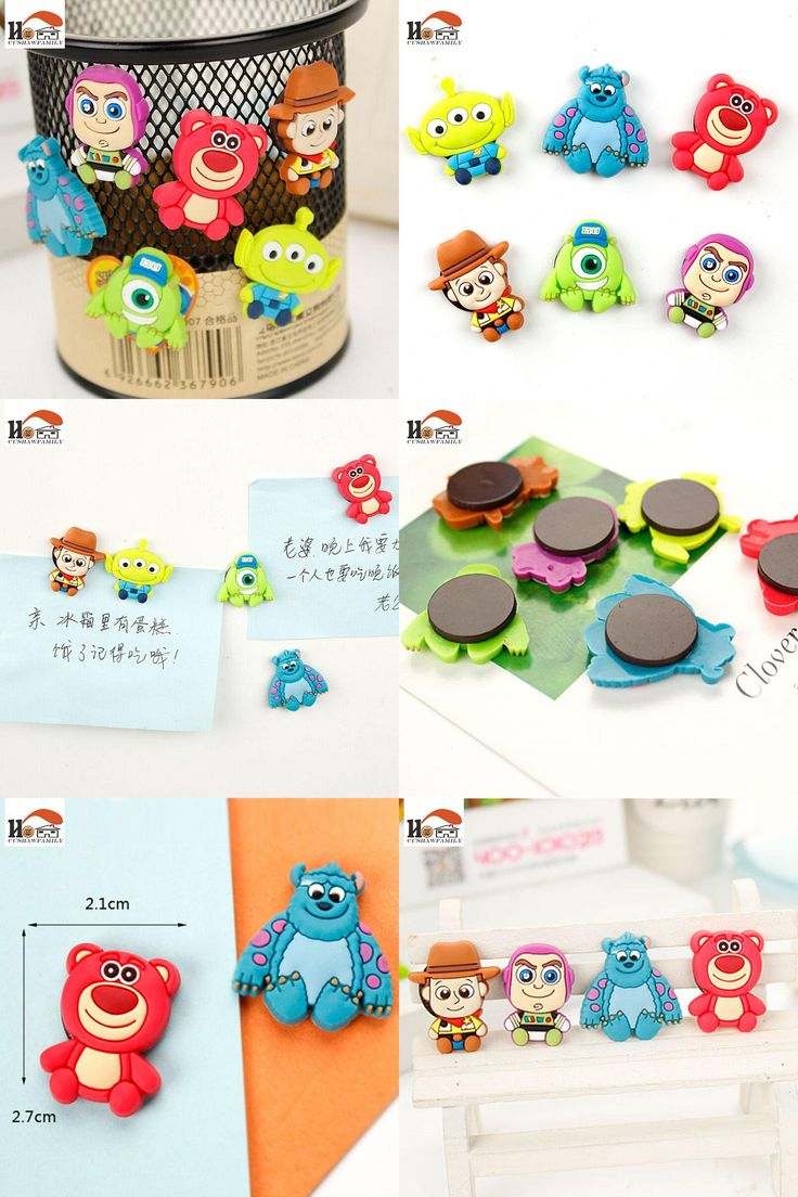 [Visit to Buy] 1 pcs silicone Cartoon Animal fridge magnets whiteboard sticker Refrigerator Magnets Kids gifts Home Decoration Free shipping #Advertisement