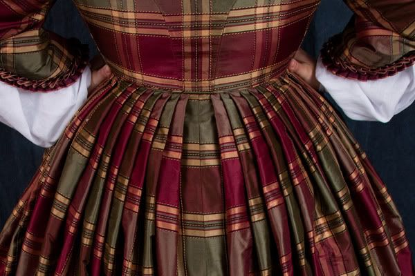 Another pinner: There are several ways to compress a skirt width to a waistband, but for 1860s, my personal favorite is directional knife pleating. Heres a short how-to on the technique I use.