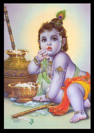 Baby Krishna God of Love   Baby krishna, Giclee art print, Art