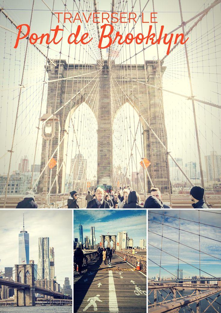 Traverser le pont de Brooklyn : un inconditionnel d'une visite à New York ! Les vues sont sublimes