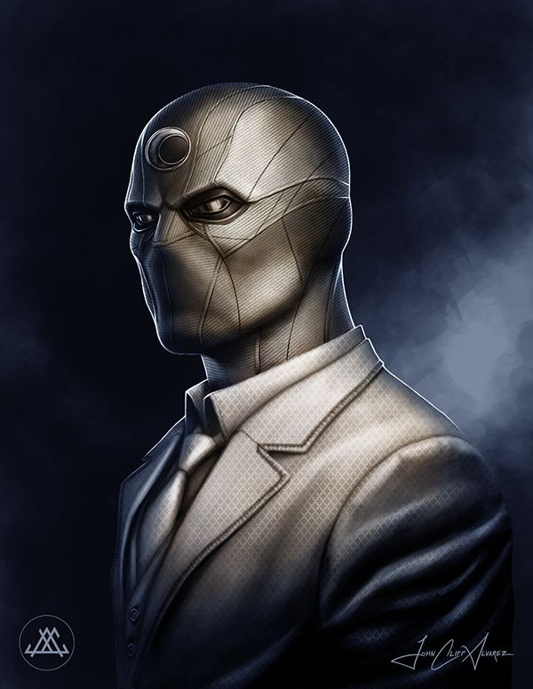 My personal redesign of Marvel's Moon Knight Character as if adapted for a full-length feature film.