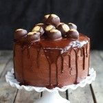Ultimate Bourbon Chocolate Drenched Peanut Butter Buckeye Cake