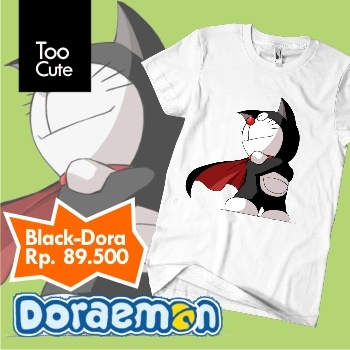 Kaos Doraemon - Super Black