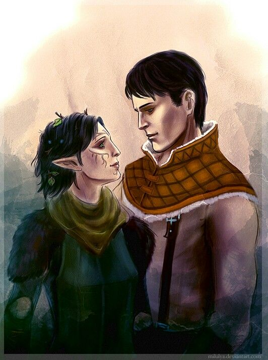 Merrill and Carver Dragon age 2 | Dragon age | Pinterest ...