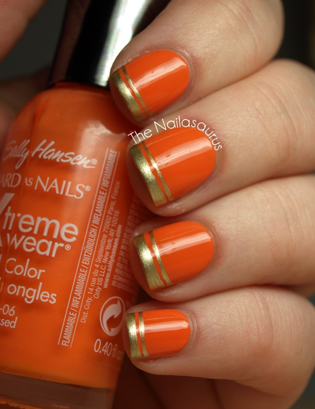Lovin' the extra line. Sally Hansen - Sunkissed. #nails
