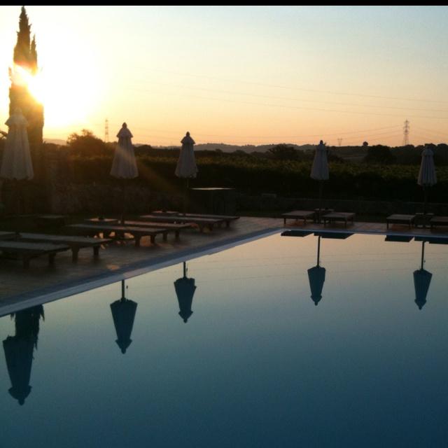 Sunrise at the pool  Alba sulla piscina