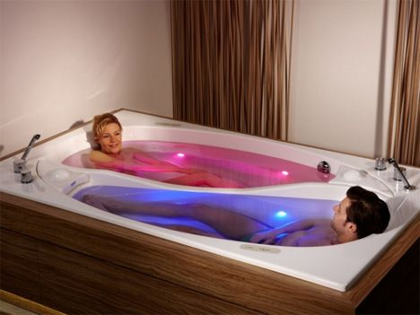 Couples (Color) Therapy: Double Bathtub, Dual Relaxation
