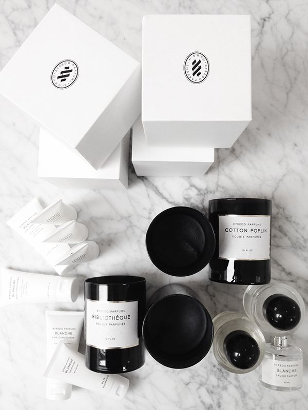 Byredo candles and parfum