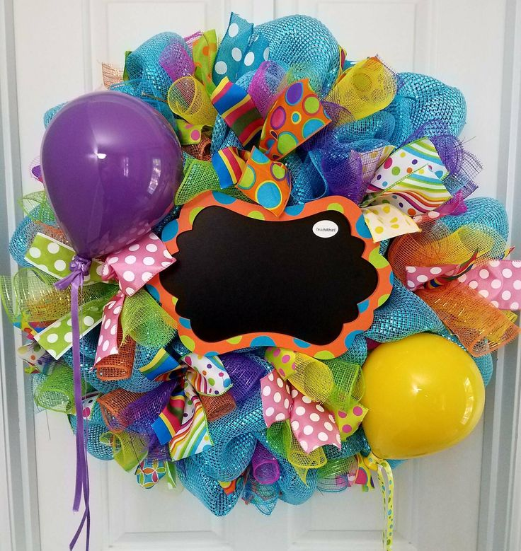 Happy Birthday wreath READY TO SHIP xl decomesh by ourinspiredcreations on Etsy https://www.etsy.com/listing/279255134/happy-birthday-wreath-ready-to-ship-xl