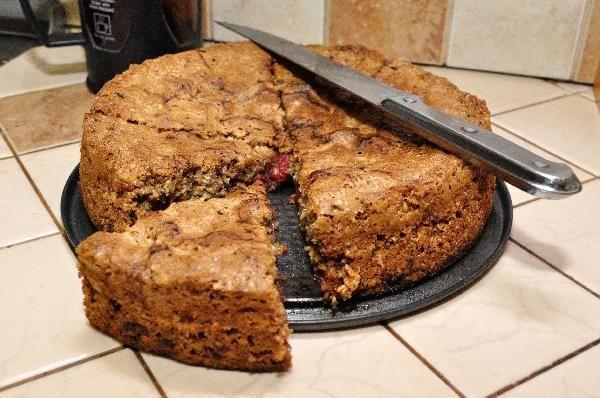 Потрясающий овсяный пирог с вишней