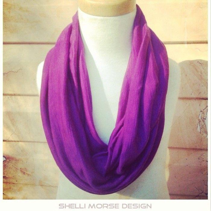 Merino 'Amethyst' hoop scarf | Shelli Morse Design | madeit.com.au