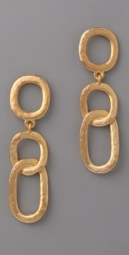 big gold chain earrings. want