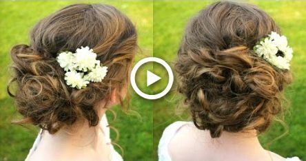 How to : Curly / Boho Updo Hair Tutorial