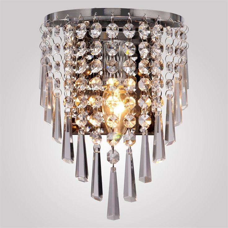 壁掛けライト クリスタル照明 玄関照明 半円形 1灯