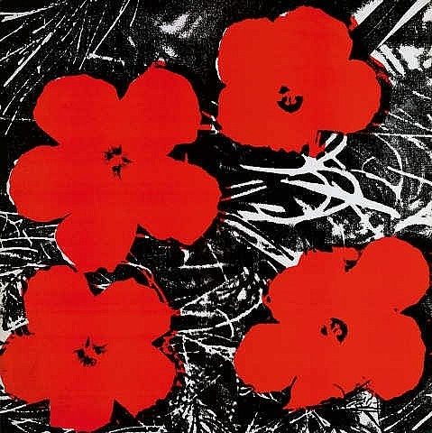 Andy Warhol, 8 Inch Flowers Painting