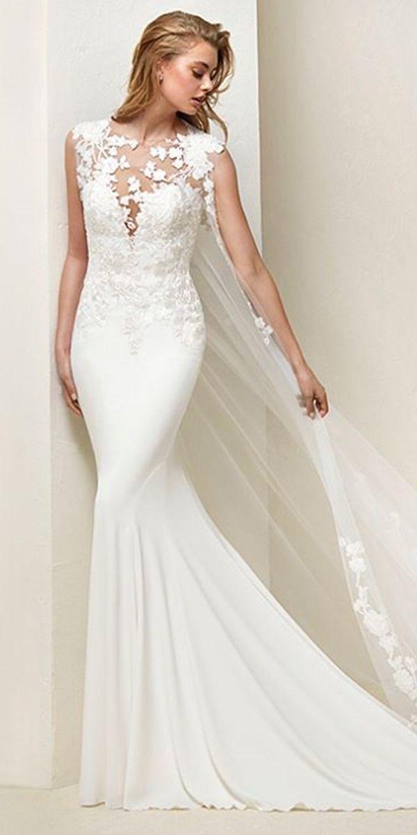 Top 30 Designer Wedding Dresses 2018 ❤ See more: http://www.weddingforward.com/wedding-dresses-2018/ #weddings