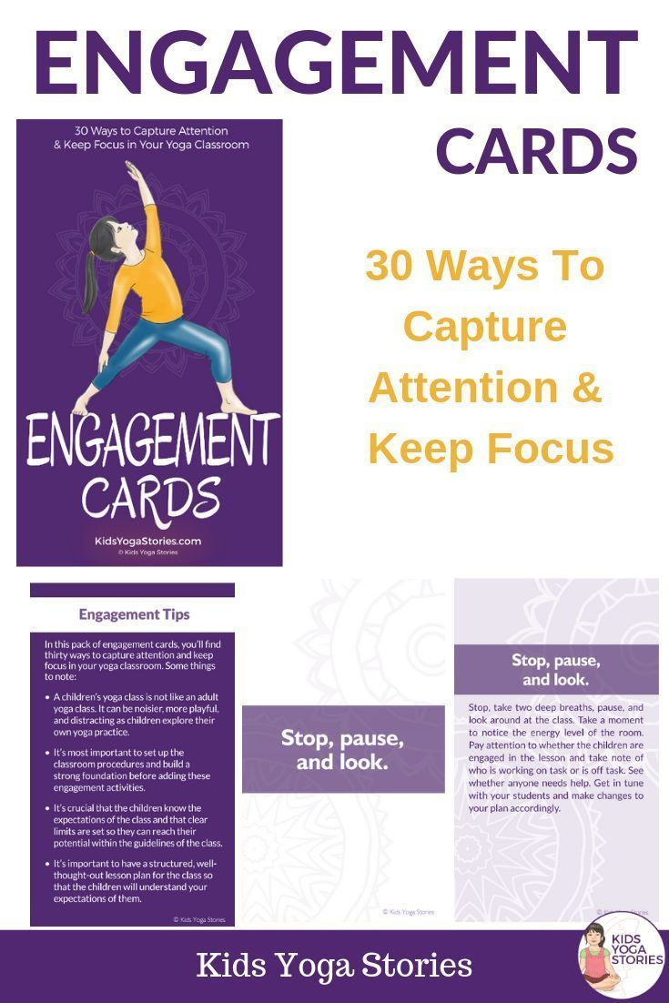 Engagement Cards In 2020 Kids Focus Engagement Cards Yoga For Kids