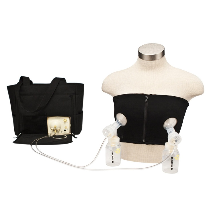 Medela Bustier Black< wish i would of had that while pumping for Amberlyn in the NICU.