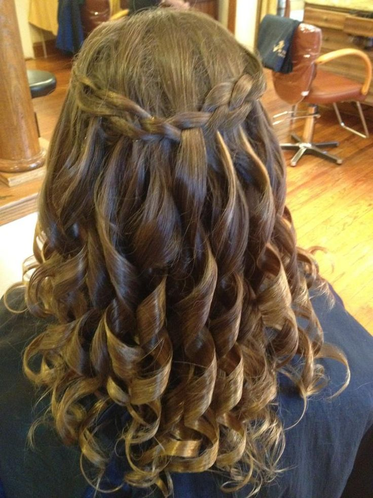A pretty, In The Village hairstyle for a little girl!