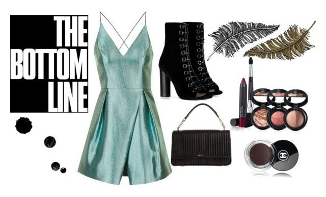 """""""The bottom line"""" by diyloving on Polyvore featuring Topshop, Barbara Bui, DKNY, Chanel, Paperself and Laura Geller"""