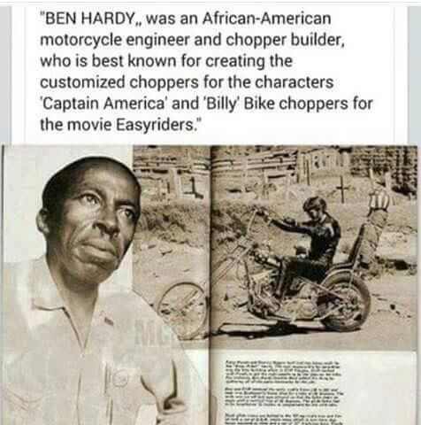 ‪Ben Hardy was a Black motorcycle engineer and chopper builder‬