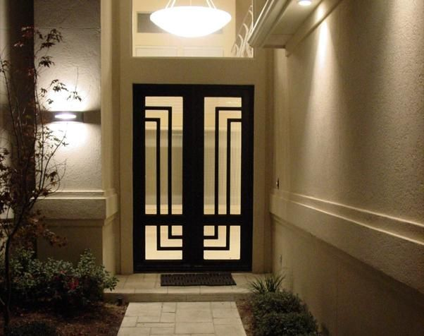 Custom Wrought Iron Entry Door