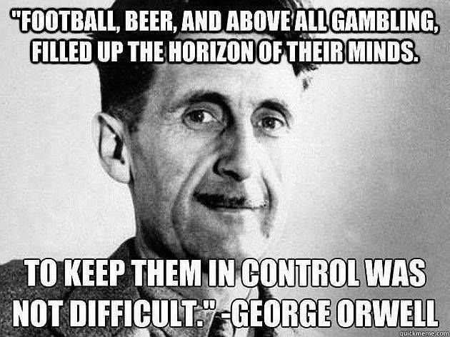 from '1984' by George Orwell, published 8 June 1949