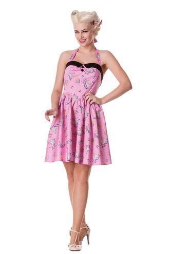 Ihana HellBunnyn mekko yskisarvisilla ja cupcakeilla #pastel #pink #dress #cybershop #fashion #pinup #unicorn #cupcake