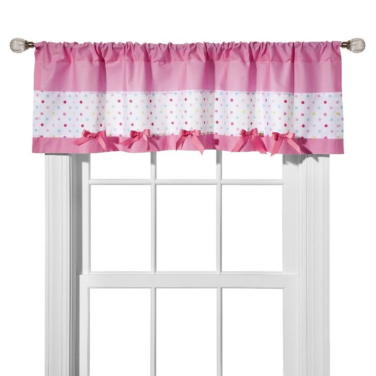 Circo® Pink Dot Window Valance