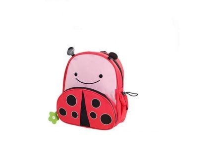 Children School Backpack with Ladybug Printing