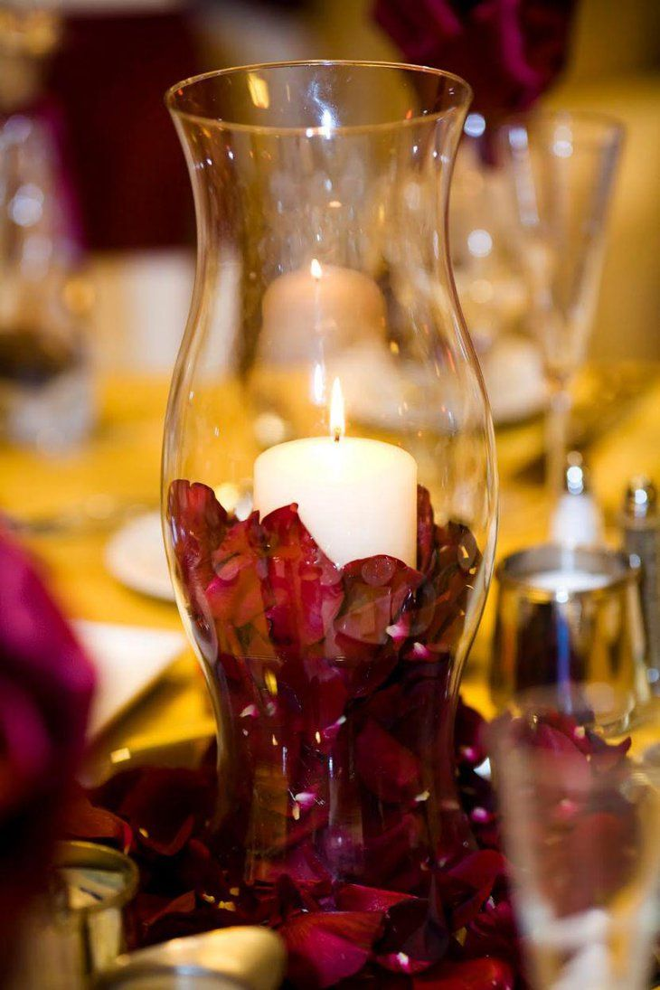 Best 25 hurricane centerpiece ideas on pinterest hurricane vase stunning diy hurricane vase wedding table centerpiece with candle and petals reviewsmspy