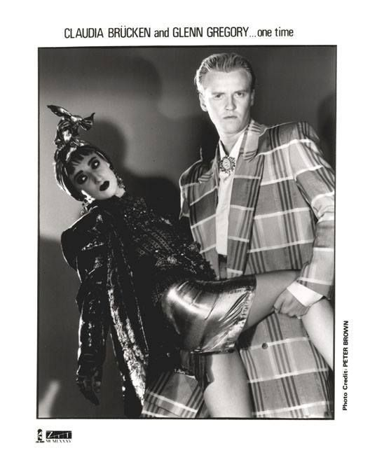 Claudia Brucken (Propaganda) and Glenn Gregory (Heaven 17) circa 1984