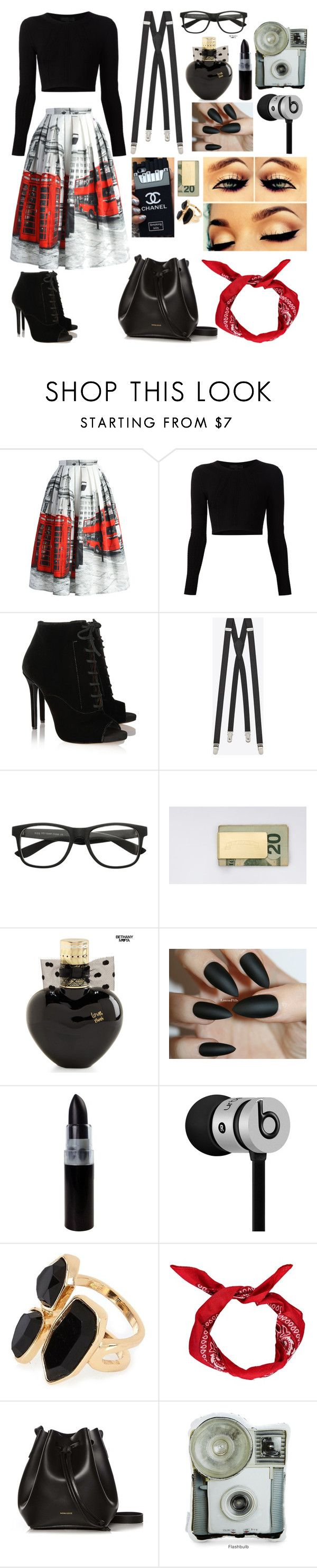 """Nerd Chic.."" by ms-congeniality ❤ liked on Polyvore featuring Chicwish, Cushnie Et Ochs, Tabitha Simmons, Yves Saint Laurent, In God We Trust, Aéropostale, Beats by Dr. Dre, River Island, Boohoo and Rachael Ruddick"