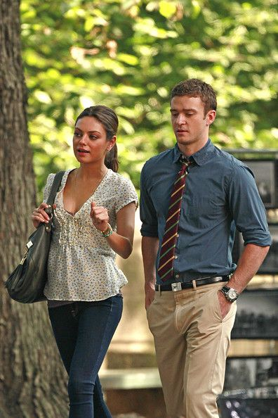 "Mila Kunis Photos: Mila Kunis and Justin Timberlake Film ""Friends with Benefits"" 2"