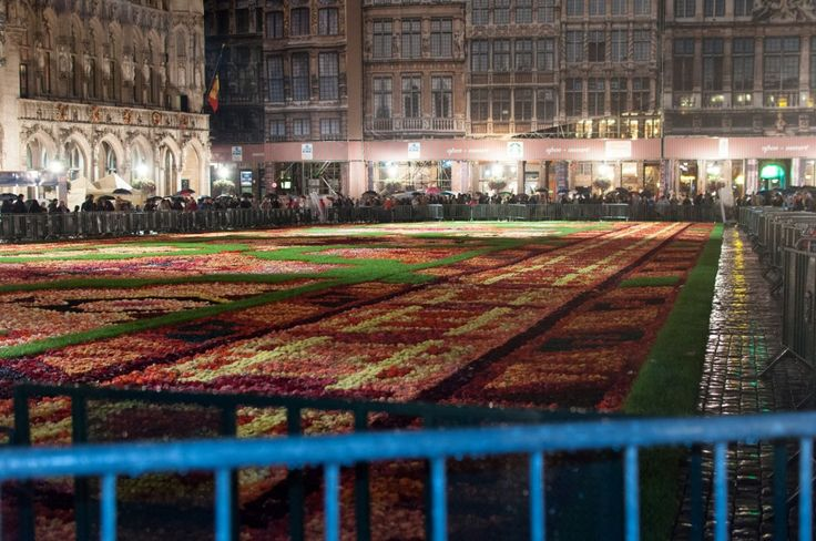 The Flower Carpet in the middle of Grand Place in Brussels.