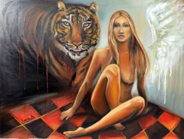 "Saatchi Art Artist areti ampi; Painting, ""Dilemma"" #art"