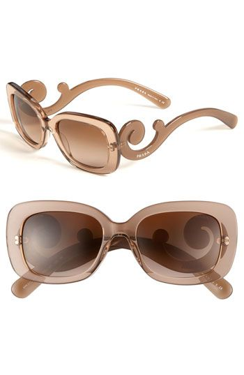 Prada rectangular Baroque sunnies in brown