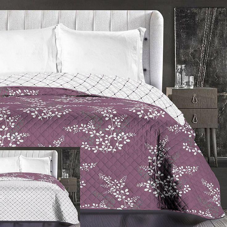 Luxusné fialové prikrývky na posteľ fialovej farby