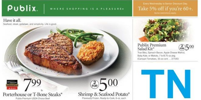 publix weekly ad circular TN State 9/28 to 10/4 2017