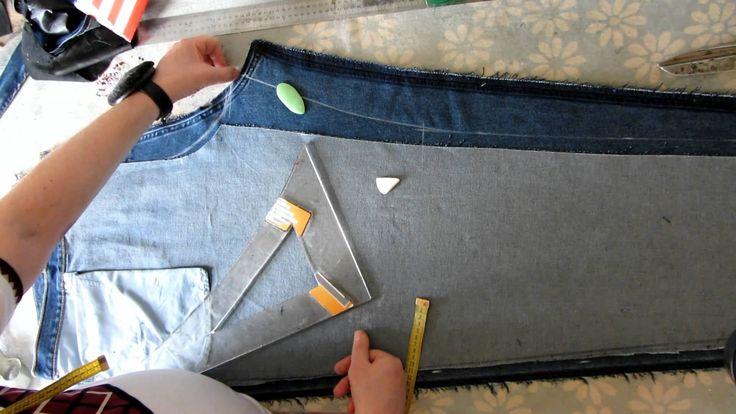 Как перешить джинсы, с подгонкой, по заданной фигуре.Часть 3