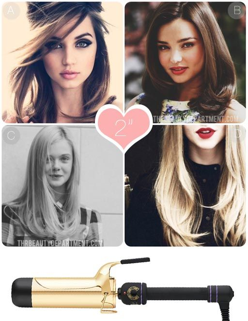 2 inch Curling Iron How To: The two inch barrel isn't intended for curl, but for a rounded bend at the ends of your hair. This curling iron is best for those with long hair who want to make it look like they had a blowout. It's a good way to fake that round-brushed look.