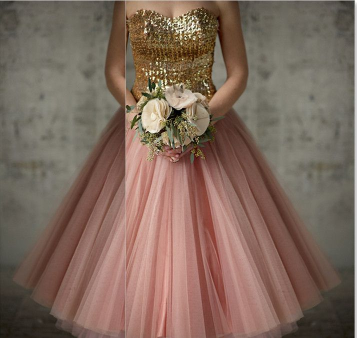 55 best images about top 250 gold bridesmaid dresses on for Pink and gold wedding dress